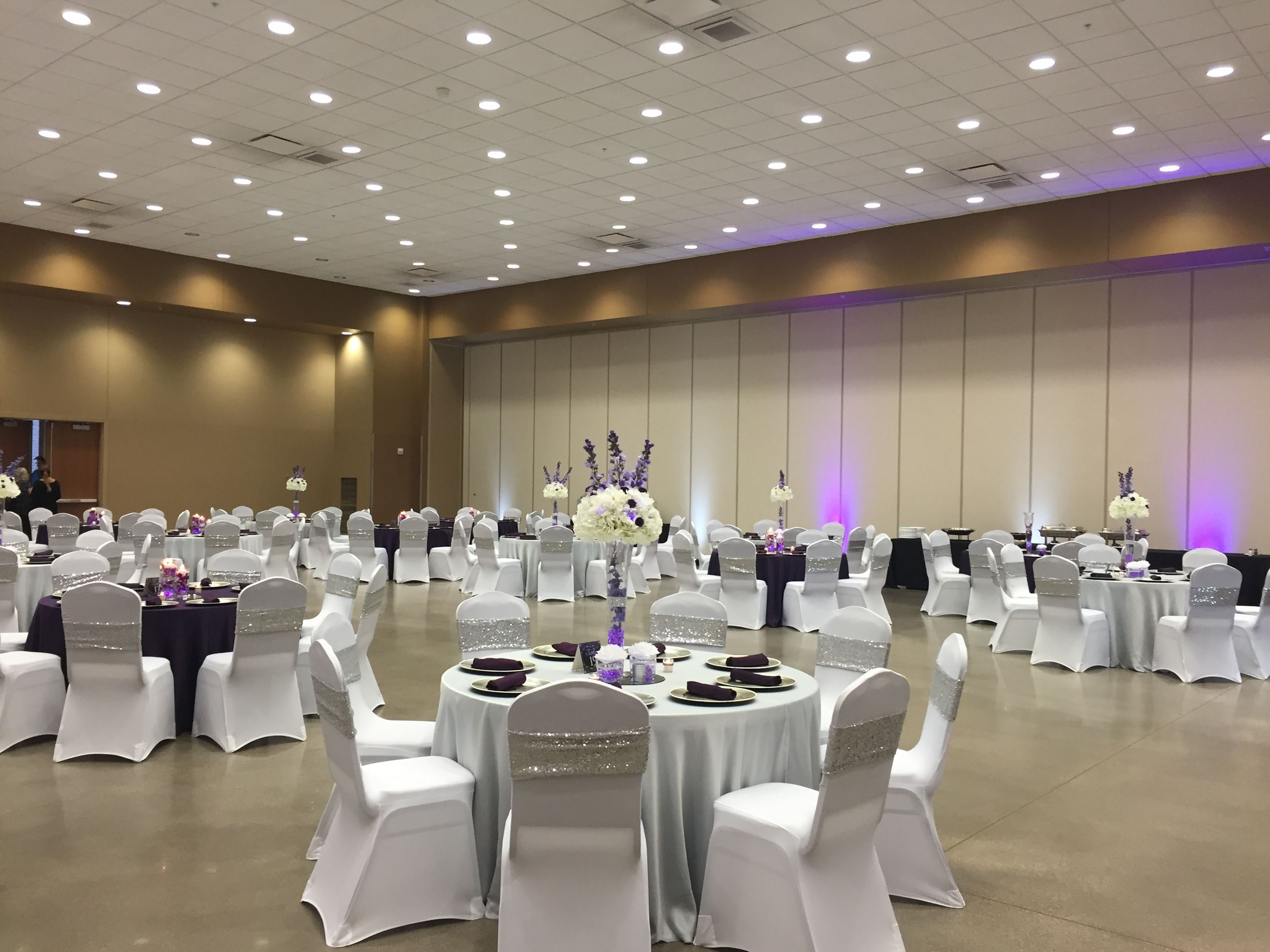 Wedding reception set-up in Hall B